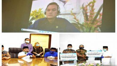 Photo of Satgas Bencana BUMN Sumut dan Martin Manurung serahkan bantuan APD ke Tapteng