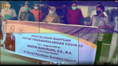 Photo of Martin Manurung Salurkan Bantuan Covid-19 Untuk Tenaga Medis dan Masyarakat di Wilayah Tabagsel