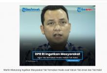 Photo of Martin Manurung Ingatkan Masyarakat Tak Termakan Hoaks soal Vaksin Tak Aman dan Tak Halal